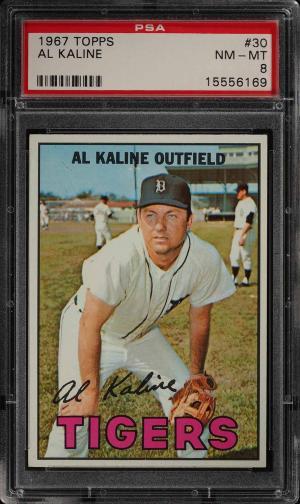 Image of: 1967 Topps Al Kaline #30 PSA 8 NM-MT (PWCC)