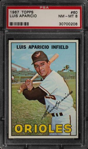 Image of: 1967 Topps Luis Aparicio #60 PSA 8 NM-MT (PWCC)