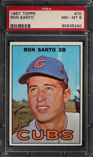 Image of: 1967 Topps Ron Santo #70 PSA 8 NM-MT (PWCC)