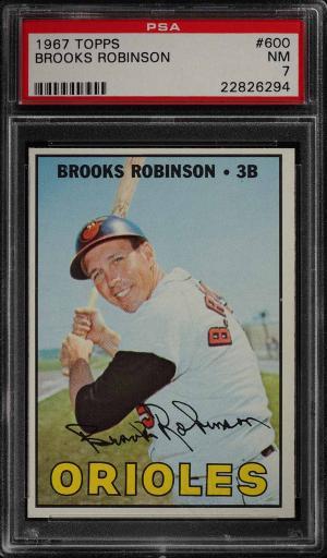 Image of: 1967 Topps Brooks Robinson SHORT PRINT #600 PSA 7 NRMT (PWCC)