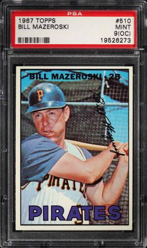 Image of: 1967 Topps Bill Mazeroski #510 PSA 9(oc) MINT (PWCC)
