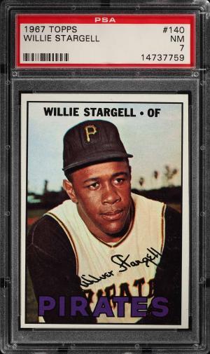 Image of: 1967 Topps Willie Stargell #140 PSA 7 NRMT (PWCC)