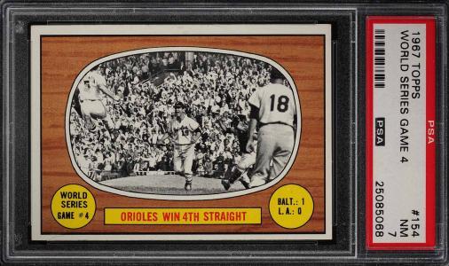 Image of: 1967 Topps World Series Game 4 #154 PSA 7 NRMT (PWCC)