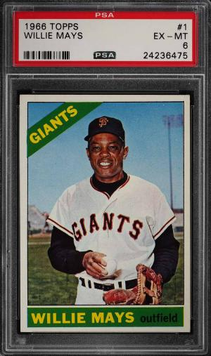 Image of: 1966 Topps Willie Mays #1 PSA 6 EXMT (PWCC-PQ)