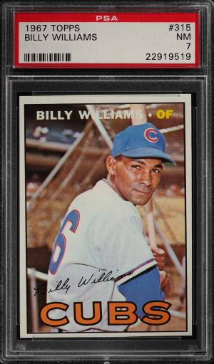 Image of: 1967 Topps Billy Williams #315 PSA 7 NRMT (PWCC)