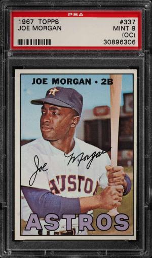 Image of: 1967 Topps Joe Morgan #337 PSA 9(oc) MINT (PWCC)
