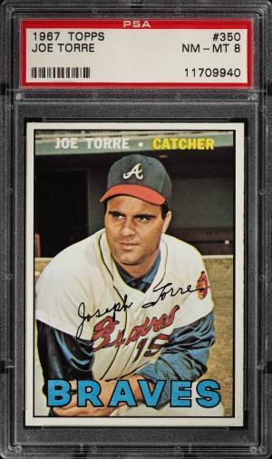 Image of: 1967 Topps Joe Torre #350 PSA 8 NM-MT (PWCC)