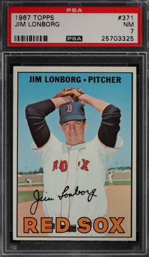 Image of: 1967 Topps Jim Lonborg #371 PSA 7 NRMT (PWCC)