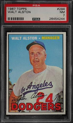Image of: 1967 Topps Walt Alston #294 PSA 7 NRMT (PWCC)