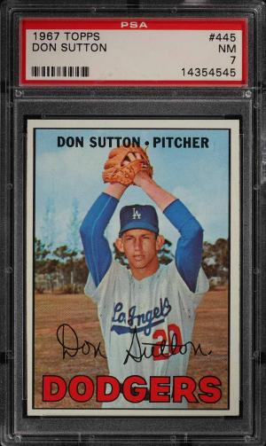 Image of: 1967 Topps Don Sutton #445 PSA 7 NRMT (PWCC)