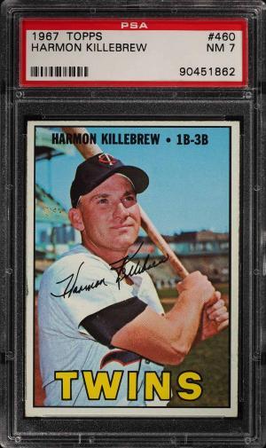 Image of: 1967 Topps Harmon Killebrew #460 PSA 7 NRMT (PWCC)