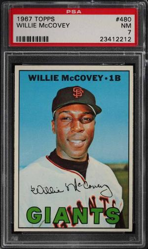 Image of: 1967 Topps Willie McCovey #480 PSA 7 NRMT (PWCC)
