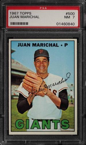 Image of: 1967 Topps Juan Marichal #500 PSA 7 NRMT (PWCC)
