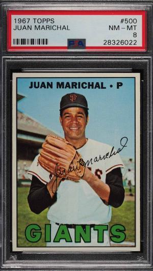 Image of: 1967 Topps Juan Marichal #500 PSA 8 NM-MT (PWCC)