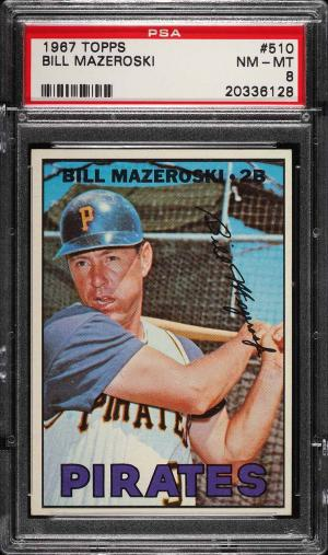 Image of: 1967 Topps Bill Mazeroski #510 PSA 8 NM-MT (PWCC)