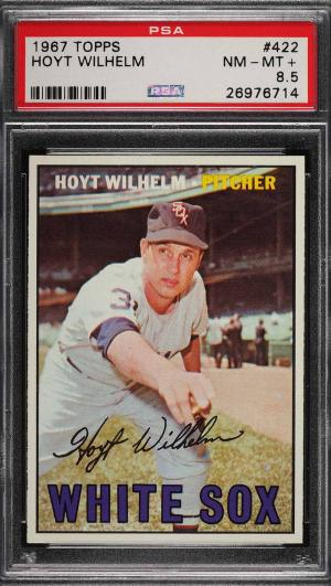 Image of: 1967 Topps Hoyt Wilhelm #422 PSA 8.5 NM-MT+ (PWCC)