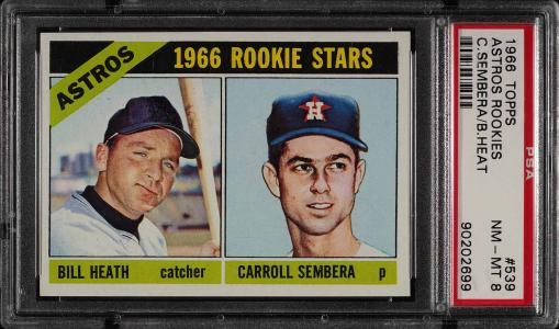 Image of: 1966 Topps Astros Rookies #539 PSA 8 NM-MT (PWCC)