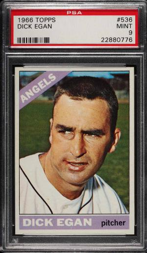 Image of: 1966 Topps Dick Egan #536 PSA 9 MINT (PWCC)