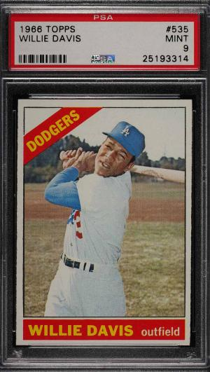 Image of: 1966 Topps Willie Davis SHORT PRINT #535 PSA 9 MINT (PWCC)