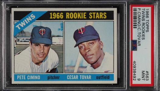 Image of: 1966 Topps Twins Rookies #563 PSA 9 MINT (PWCC)