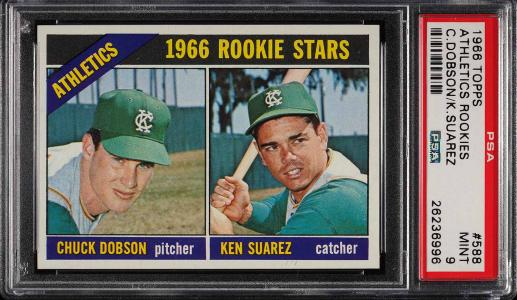 Image of: 1966 Topps Athletics Rookies #588 PSA 9 MINT (PWCC)