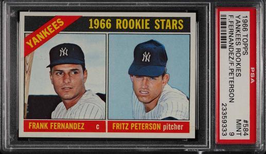 Image of: 1966 Topps Yankees Rookies #584 PSA 9 MINT (PWCC)