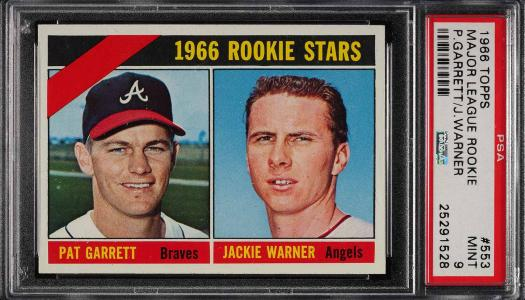 Image of: 1966 Topps Major League Rookie #553 PSA 9 MINT (PWCC)