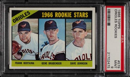 Image of: 1966 Topps Orioles Rookies #579 PSA 9 MINT (PWCC)