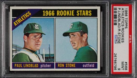 Image of: 1966 Topps Athletics Rookies #568 PSA 9 MINT (PWCC)