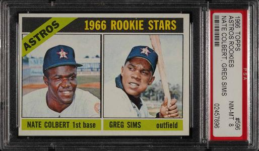 Image of: 1966 Topps Nate Colbert SP ROOKIE RC #596 PSA 8 NM-MT (PWCC)
