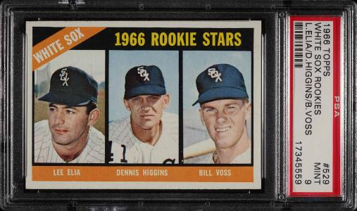 Image of: 1966 Topps White Sox Rookies #529 PSA 9 MINT (PWCC)