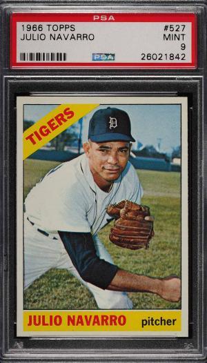 Image of: 1966 Topps Julio Navarro #527 PSA 9 MINT (PWCC)
