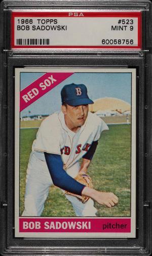 Image of: 1966 Topps Bob Sadowski #523 PSA 9 MINT (PWCC)