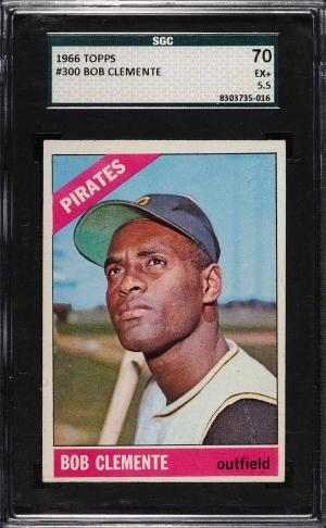 Image of: 1966 Topps Roberto Clemente #300 SGC 5.5 EX+ (PWCC)
