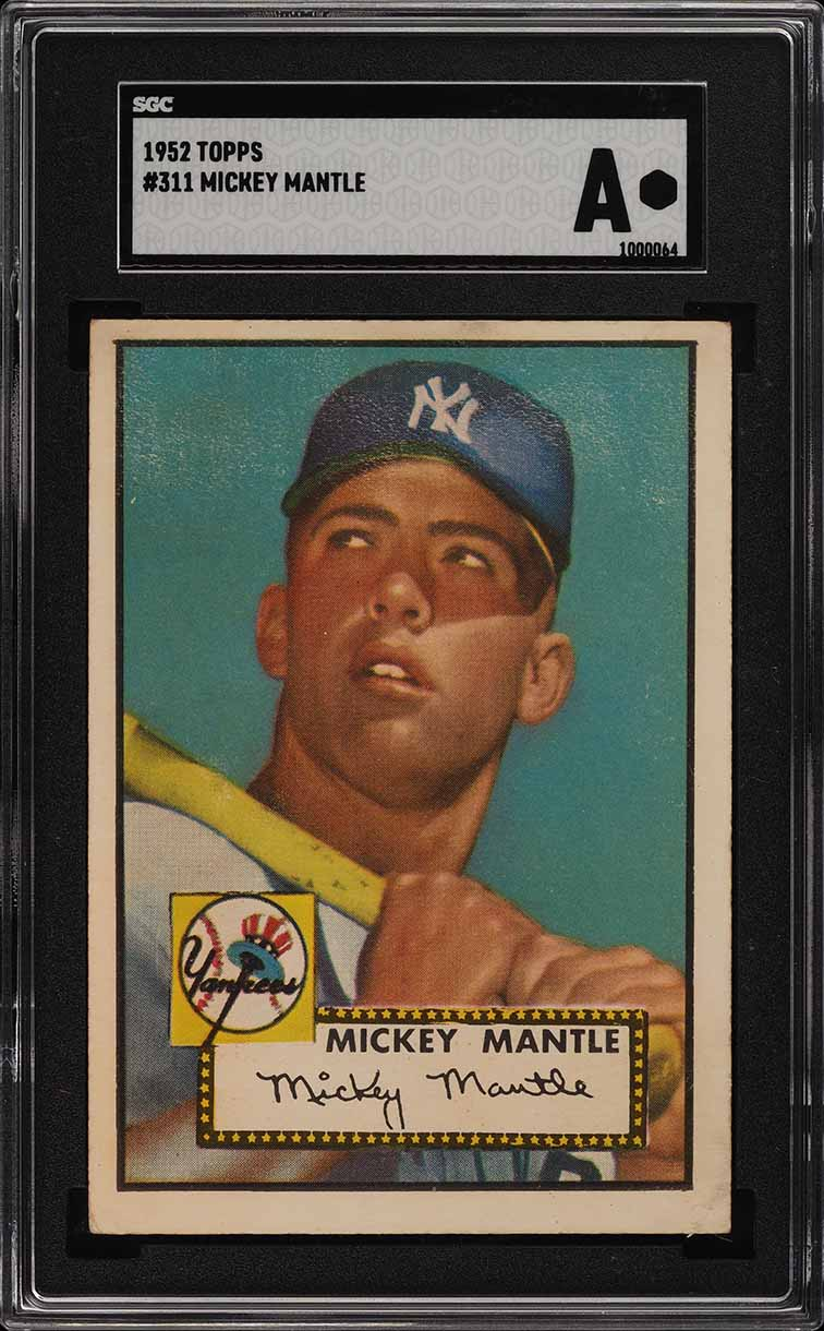 Image of: 1952 Topps Mickey Mantle #311 SGC Auth, PSA Min Size (PWCC)
