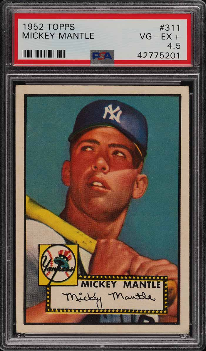 Image of: 1952 Topps Mickey Mantle #311 PSA 4.5 VGEX+ (PWCC-E)