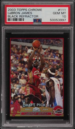 2003 Topps Chrome Black Refractor Lebron James Rookie Rc