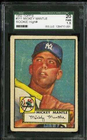Image of: 1952 Topps Mickey Mantle #311 SGC 1.5 FAIR (PWCC)