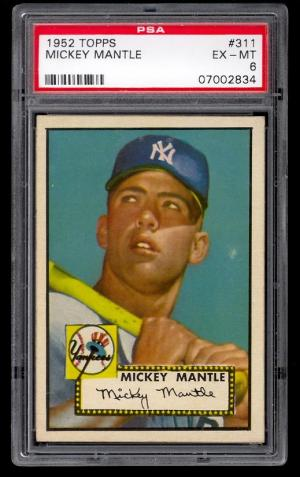 Image of: 1952 Topps Mickey Mantle #311 PSA 6 EXMT (PWCC)