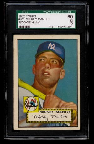 Image of: 1952 Topps Mickey Mantle #311 SGC 5 EX (PWCC)