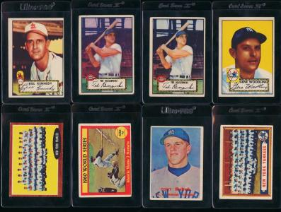 Image of: Lot(15) 1952-73 Topps Stars w/ Ryan Rose Klu Clemente Mantle, VG to EX+ (PWCC)