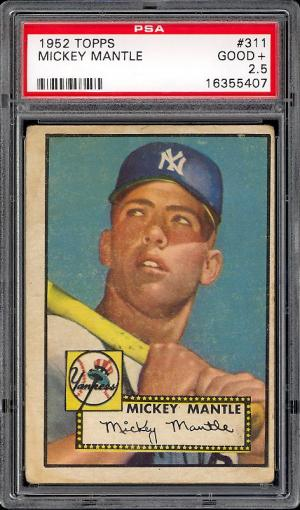 Image of: 1952 Topps Mickey Mantle #311 PSA 2.5 GOOD+