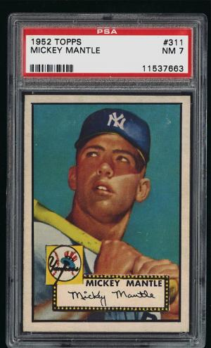 Image of: 1952 Topps Mickey Mantle #311 PSA 7 NRMT