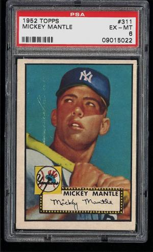 Image of: (PWCC) 1952 Topps Mickey Mantle #311 PSA 6 EXMT