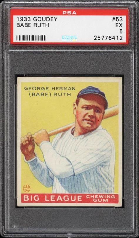 Babe Ruth Card