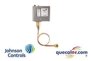 Control de alta presion Johnson Controls P70CA-1C, abre al subir la presion , rango de 20 pulg Hg a 100 psi , diferencial de 7 a 50 psi , capilar de 36 pulg largo con tuerca flare de 1/4