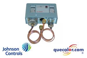 Control De Baja Y Alta Presion P70LB-1C Johnson Controls, Restablecimiento Automatico, Capilar Y Tuerca Flare De 1/4