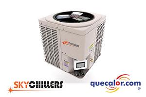 Unidad Generadora De Agua Helada Tipo Chiller  Y Agua Caliente Tipo Heat Pump, Con Compresor Scroll Y Condensador Enfriado Por Aire Skychillers De 60,000 Btu, Modelo SKCLA060A25-HP