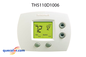 Termostato Electronico No-Programable 1 Calor/ 1 Frio, Heat Pump Honeywell TH5110D1006