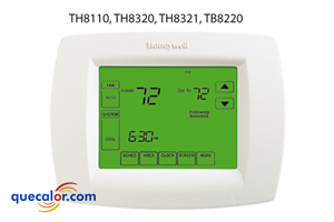 Termostato electronico programable 7 dias touchscreen 1 calor/ 1 frio, Honeywell